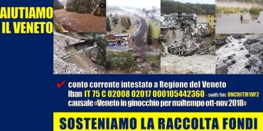 Sosteniamo i territori del Veneto colpiti dal maltempo